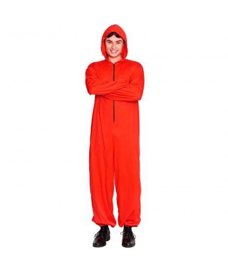 Disfraz Mono Rojo Cremallera Unisex
