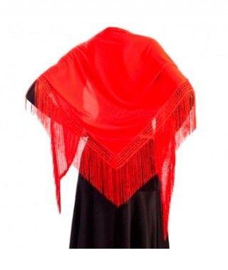 Mantón Rojo de adulto (150 cm x 60 cm) Accesorio Baile