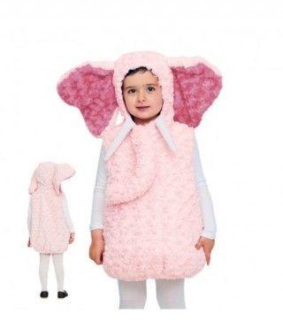 Disfraz Elefante Rosa Bebé