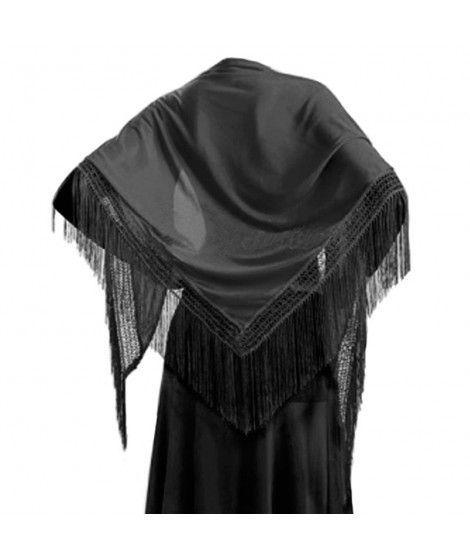 Mantón Negro de adulto (150 cm x 60 cm) Accesorio Baile