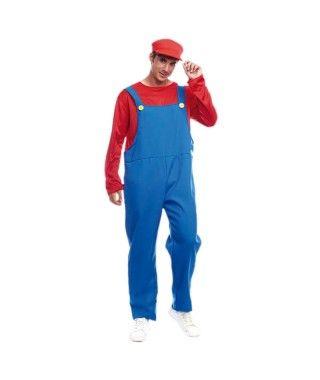Disfraz Fontanero rojo hombre adulto para Carnaval