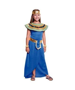 Disfraz Faraona Egipcia Azul niña Carnaval