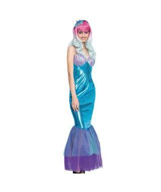 Disfraz Sirena Blue Mermaid Mujer
