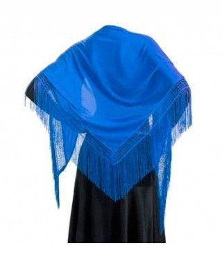 Mantón Azul de adulto (150 cm x 60 cm) Accesorio Baile