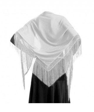Mantón Blanco de adulto (150 cm x 60 cm) Accesorio Baile