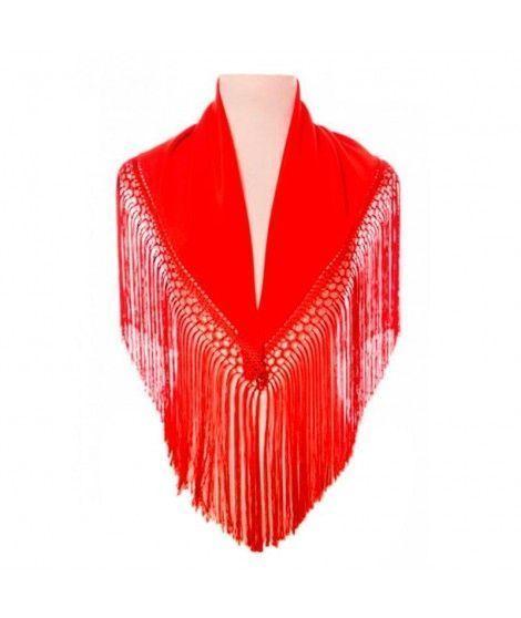 Mantón Rojo infantil (120 cm x 45 cm) Accesorio Baile
