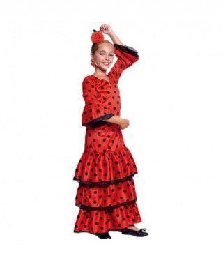 Disfraz Sevillana Rojo Niña