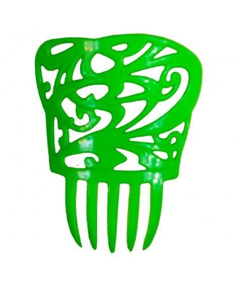 Peineta de Flamenco Cuadrada Verde
