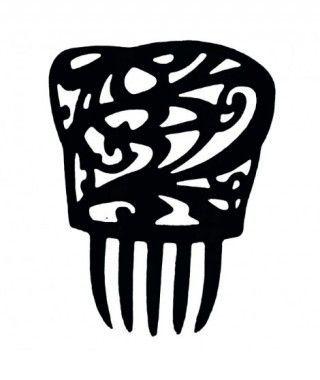 Peineta de Flamenco Cuadrada Negra
