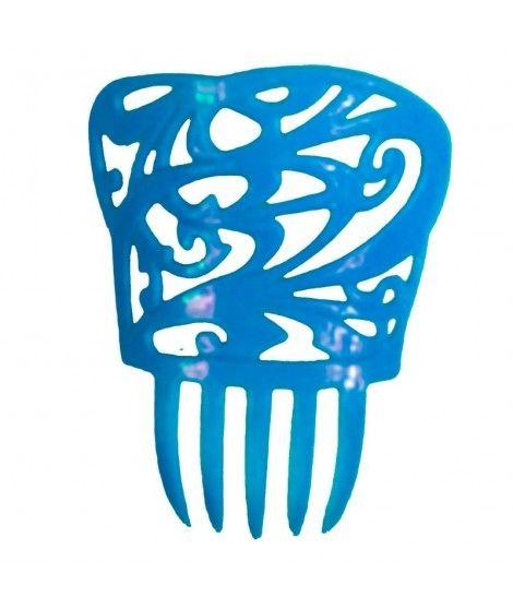 Peineta de Flamenco Cuadrada Azul
