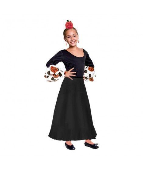 Falda Baile Flamenco Negra Infantil