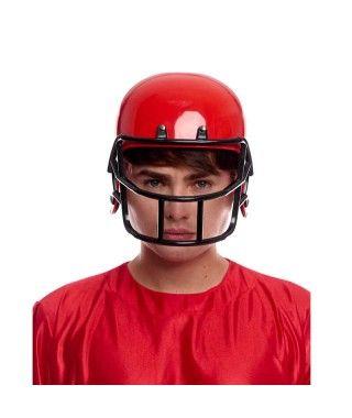 Casco Rugby Rojo Disfraz