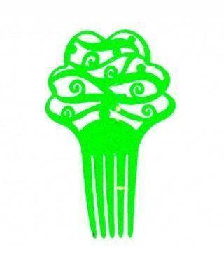 Peineta de Flamenco Floral Verde