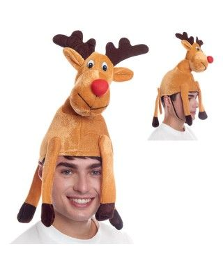 Gorro Navidad Reno Rudolf