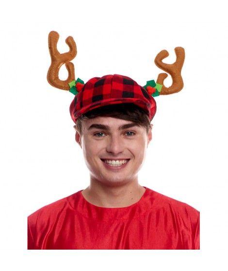 Boina Navidad cuernos reno