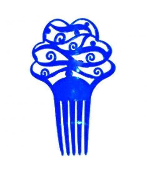 Peineta de Flamenco Floral Azul