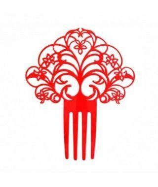 Peineta de Flamenco Abanico Rojo