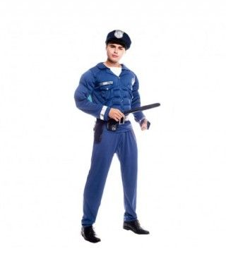 Disfraz Policía Musculoso Hombre