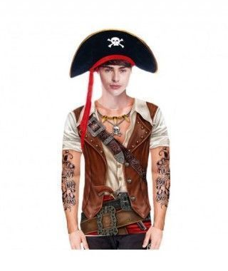 Camiseta Pirata Print Hombre
