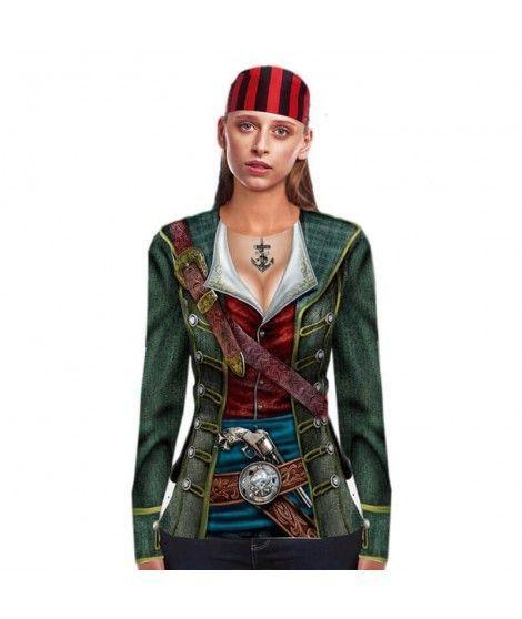 Camiseta Pirata Print Mujer