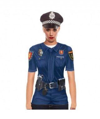 Camiseta Policía Mujer Print