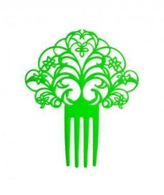 Peineta de Flamenco Abanico Verde