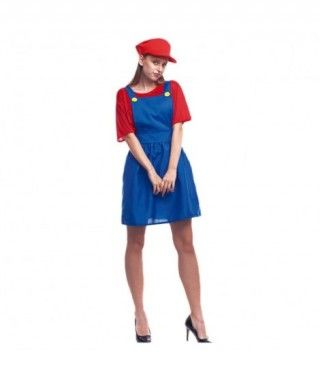 Disfraz Fontanera Roja Mujer