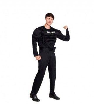 Disfraz Agente Swat Musculoso Hombre