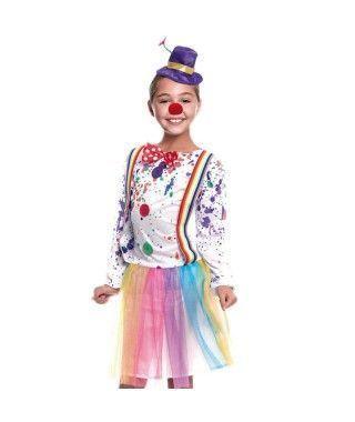 Disfraz Payasa Arco Iris Niña