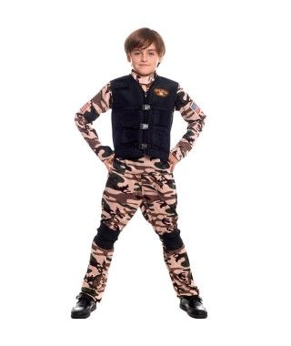 Disfraz Fuerzas Especiales Niño para Carnaval