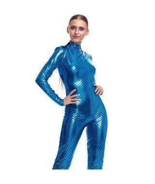 Mono Maillot Pez Sirena Azul Mujer