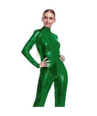 Mono Maillot Pez Sirena Verde Mujer