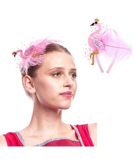 Diadema Flamenco Rosa Lateral