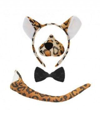 Conjunto Disfraz Leopardo 4 pcs