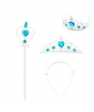 Conjunto Corona con Varita Azul