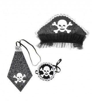 Conjunto Pirata Glam Rayas 3 pcs