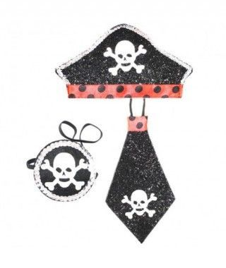Conjunto Pirata Glam Lunares 3 pcs