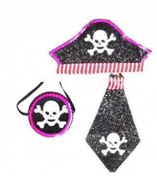 Conjunto Pirata Glam Tul 3 pcs