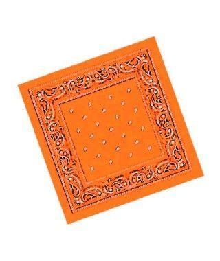 Pañuelo Bandana Vaquero o Rapero Paisley naranja