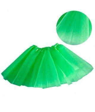 Tutú infantil verde purpurina bailarina 25 cm
