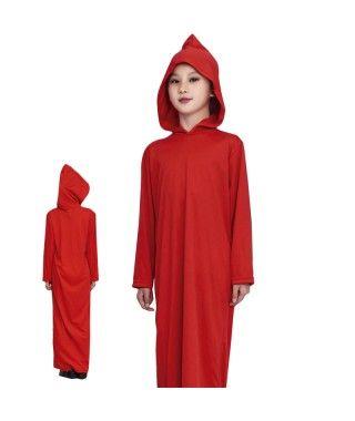 Túnica Roja con Capucha Infantil