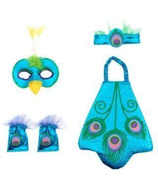 Conjunto Disfraz Pavo Real Infantil (5 PCS)