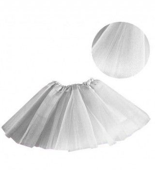 Tutú infantil blanco purpurina bailarina 25 cm