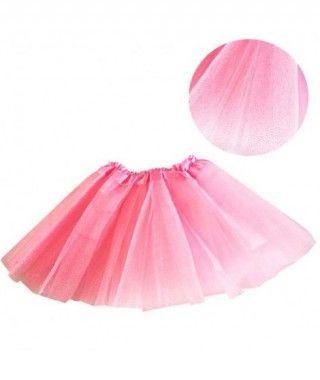 Tutú infantil rosa purpurina bailarina 25 cm