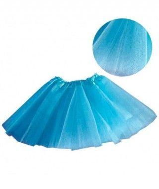 Tutú infantil azul purpurina bailarina 25 cm