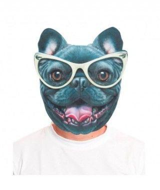 Máscara Bulldog Negro 2D
