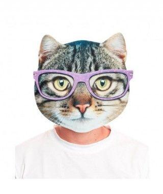 Máscara Gato Serio 2D