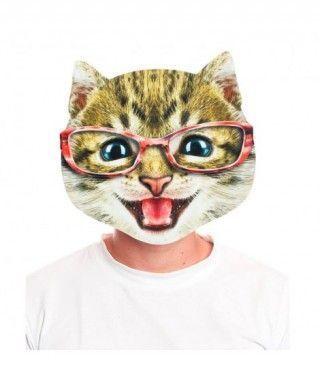 Máscara Gato Risa 2D