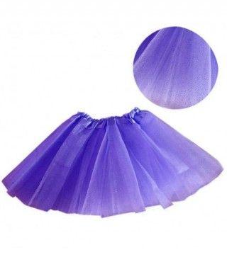 Tutú infantil morado purpurina bailarina 25 cm