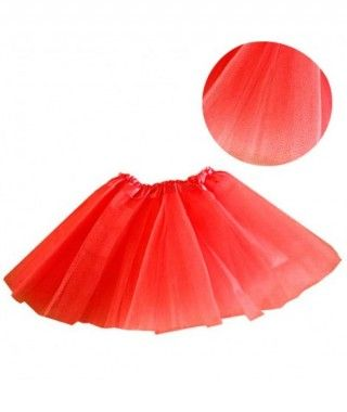 Tutú infantil rojo purpurina bailarina 25 cm